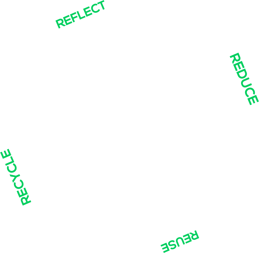 Refletir - Reduzir - Reutilizar - Recliclar