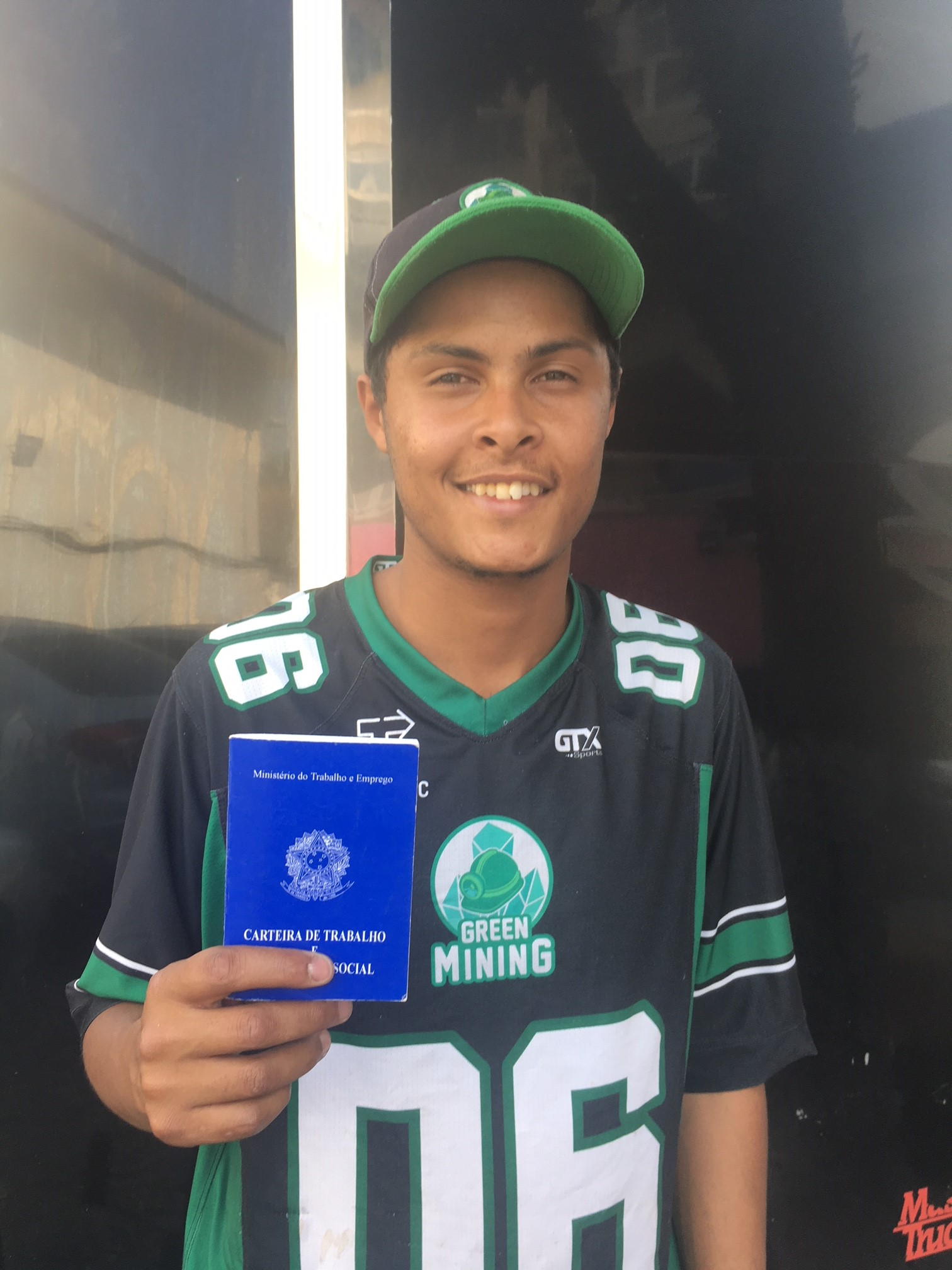 The young <strong>Renan Pereira Mattos</strong> has been with Green Mining since December 2018 and goes to Accounting college at night.