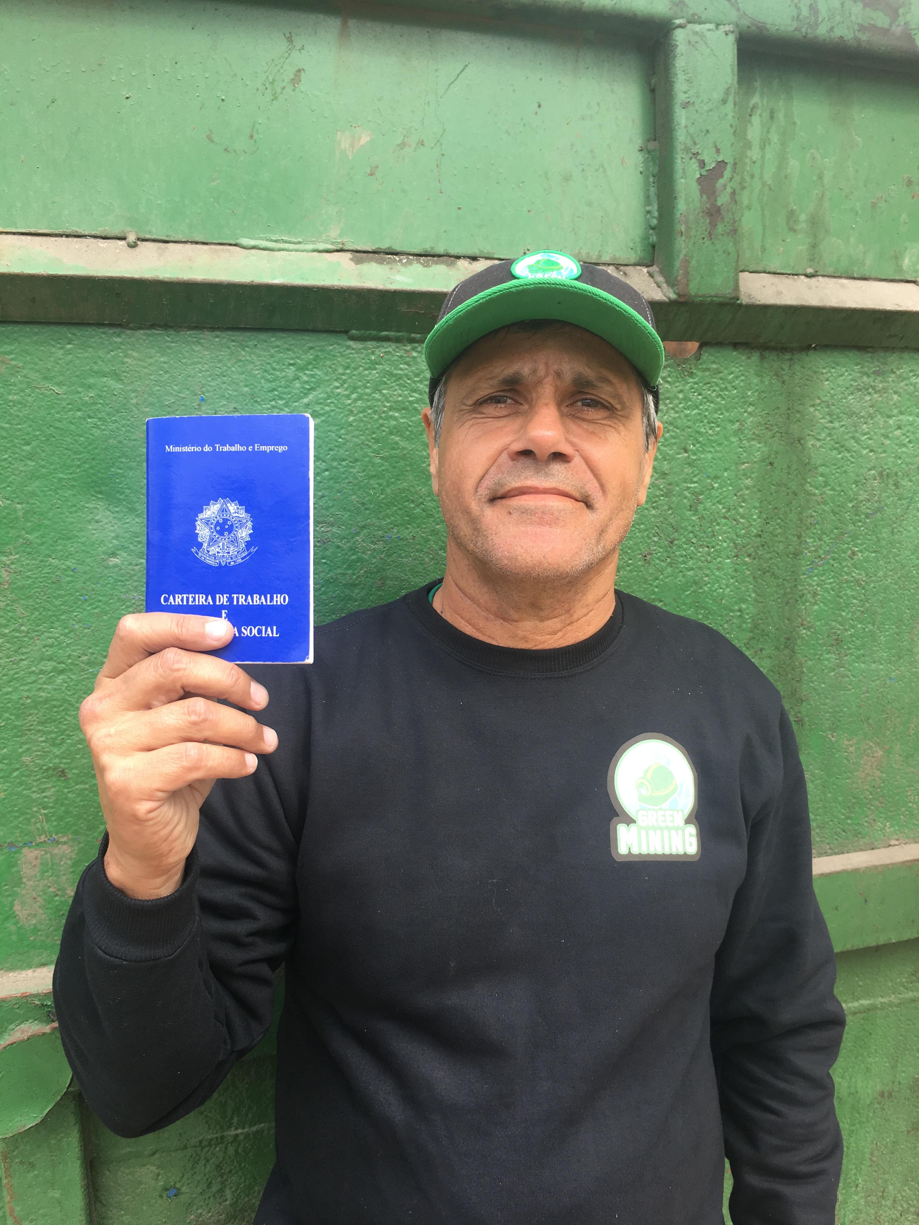 A Green Mining valoriza a experiência de <strong>Humberto das Neves Cabral</strong>, que trabalhava com logística reversa em supermercados.